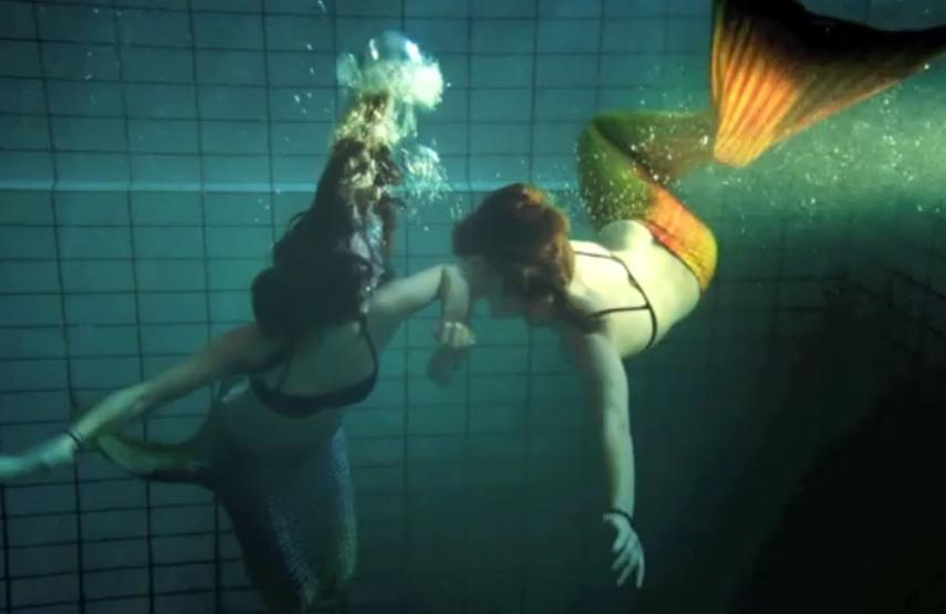 video playing mermaids