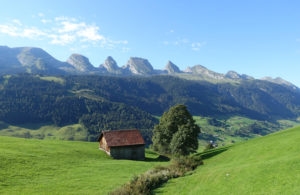 Blick auf die Churfirsten im Kanton St. Gallen